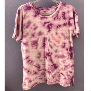 Women's Purple Tie Dye Shirt